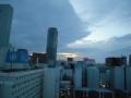 180813ホテルから夜明けの東の空