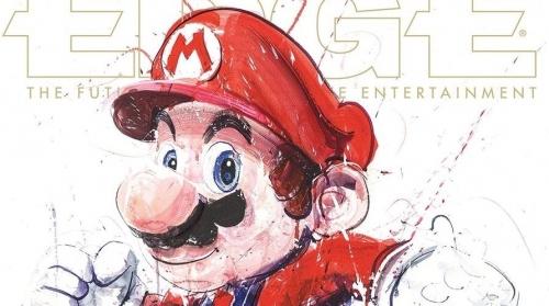EDGE誌25周年記念のカバーアートを「マリオ」「ガイル」「マスターチーフ」「ソラール」が飾る!