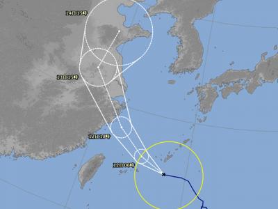 台風14号進路図(8月11日18時)