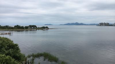琵琶湖大橋西詰めから眺めた北湖(8月20日13時頃)