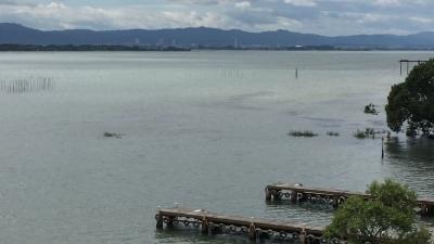 台風20号の雨で抹茶オレ色になった琵琶湖(YouTubeムービー)