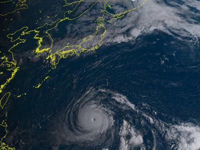 台風21号ひまわり8号画像(9月1日7時)