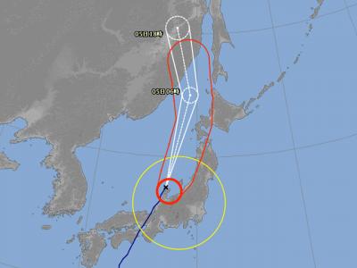 台風21号進路図(9月4日19時)