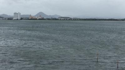 琵琶湖大橋西詰めから眺めた南湖(9月4日11時20分頃)
