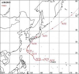 2004年台風23号進路図