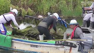 藻刈り船浮き丸
