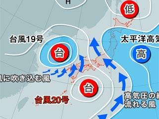 台風20号が加速する理由