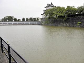 水抜きが予定される新発田城の濠