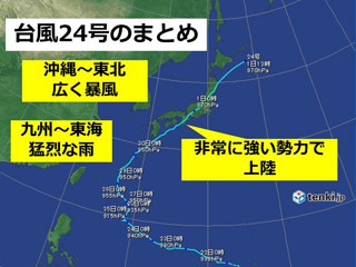 台風24号のまとめ