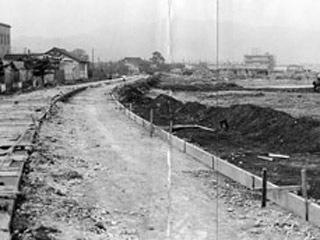 1962年の大津市打出浜湖岸の様子