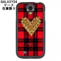 Tartan Gold Studded Heart Samsung Galaxy S4 Case (2)11