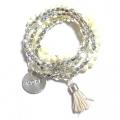 W40 Tassel bracelet set silver (3)11111