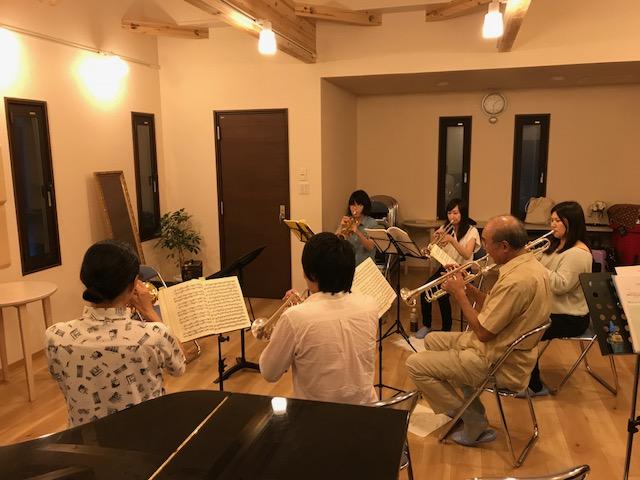 9/15 早坂先生レッスン(トランペットパート)