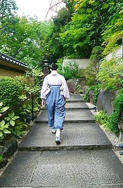 うかい亭 階段 (2)
