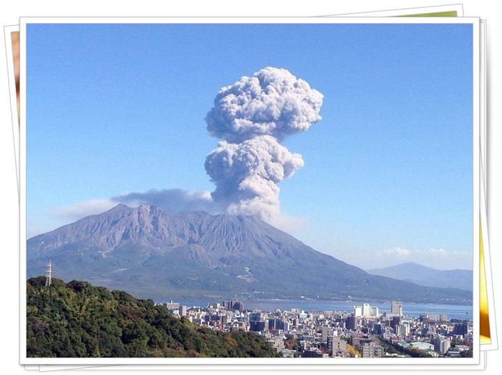 桜島の噴煙10-10