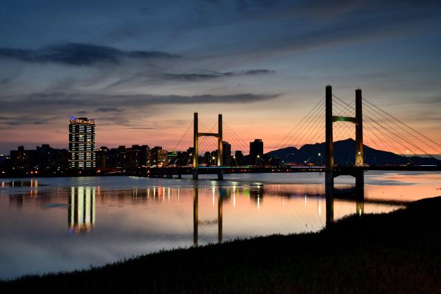 重陽橋の夕焼け(3)