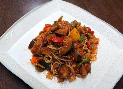夏野菜たっぷりラタトゥイユスパゲッティ