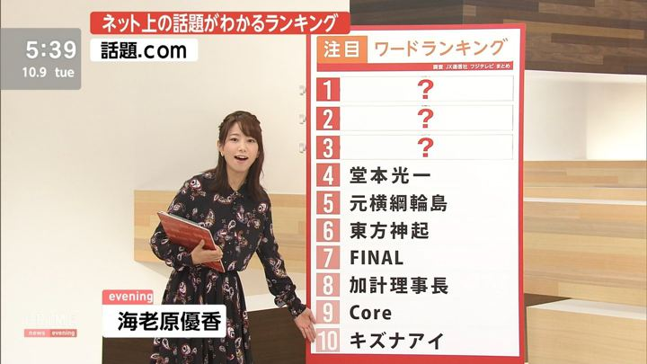 2018年10月09日海老原優香の画像02枚目