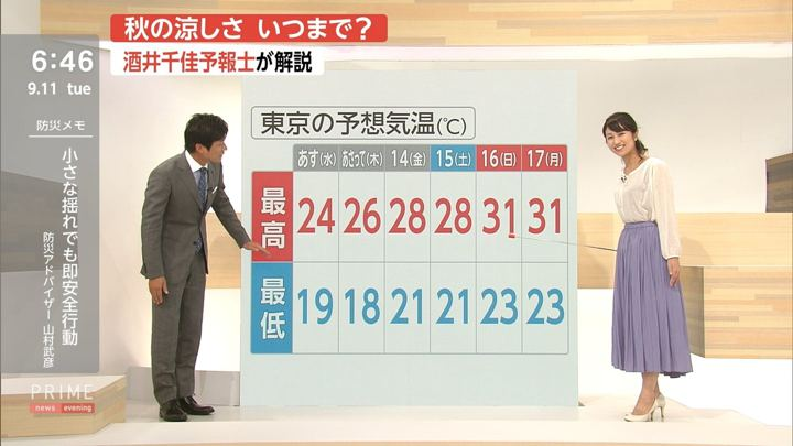 2018年09月11日酒井千佳の画像09枚目