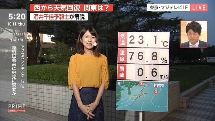 2018年10月11日酒井千佳の画像02枚目