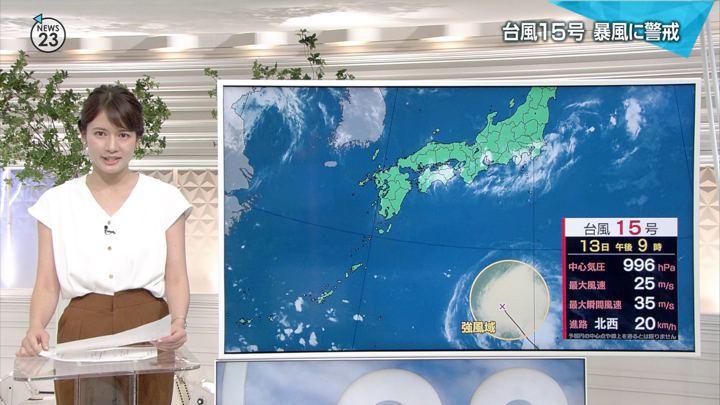 宇内梨沙 NEWS23 (2018年08月13日,14日放送 31枚)