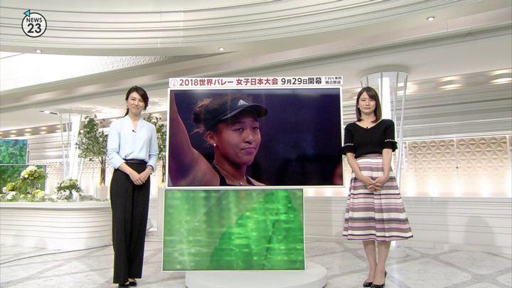 宇内梨沙 NEWS23 (2018年09月21日放送 5枚)