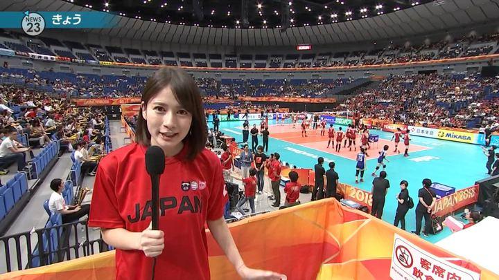 宇内梨沙 NEWS23 (2018年10月01日,02日,03日放送 42枚)