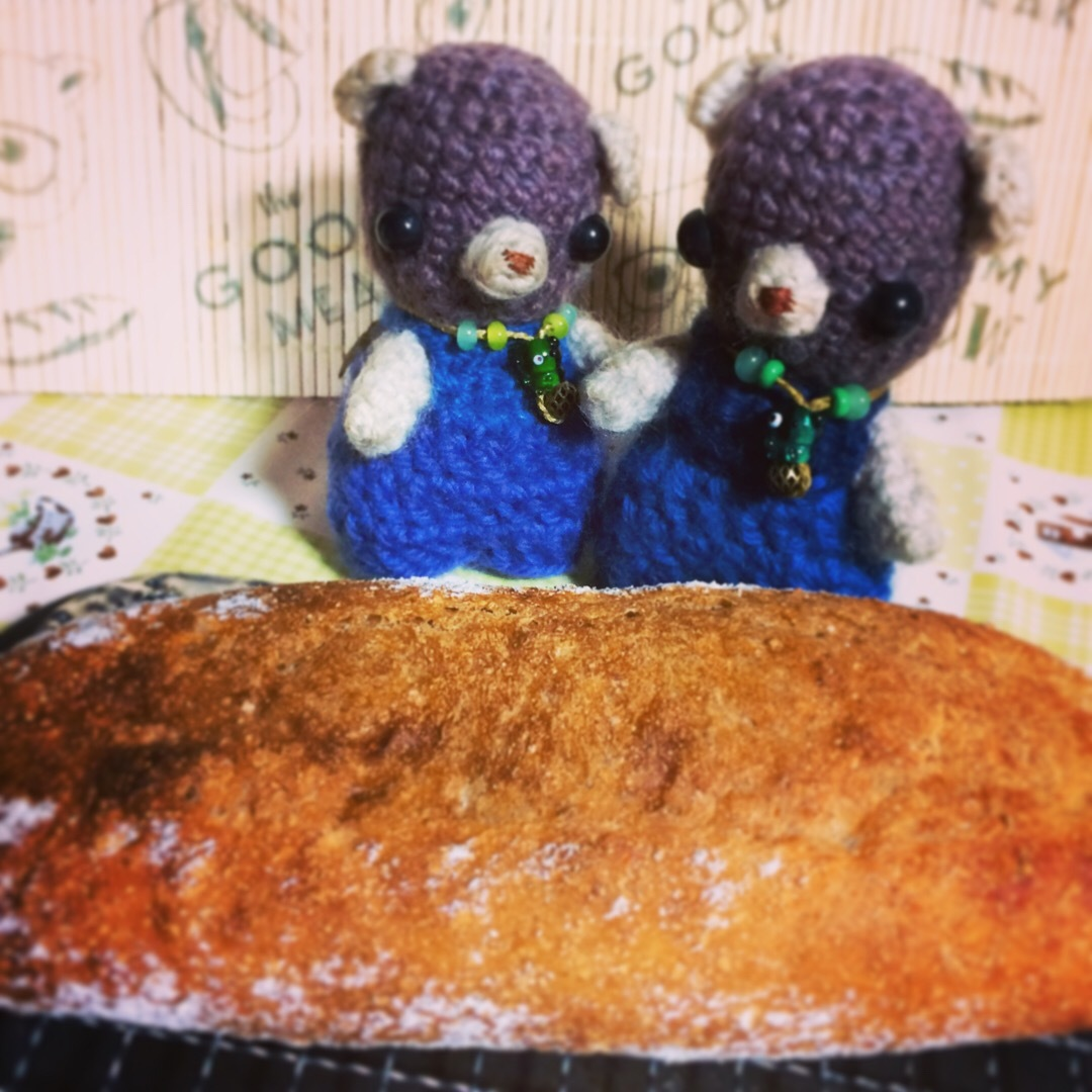 自家製パンとりょくとりっちゃんと。