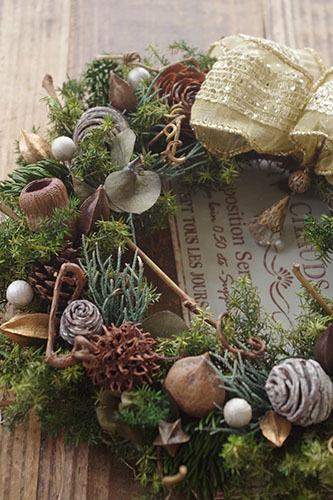 ベルガムとヒムロスギのクリスマスリース
