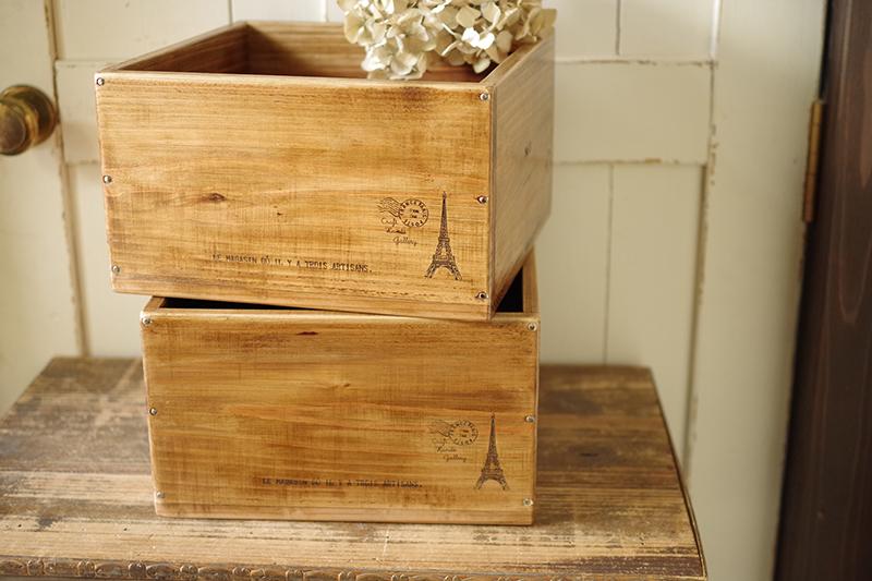 ヴィンテージ風に仕上げたオーダーメイドの木箱