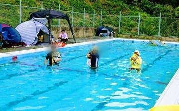 水泳選手犬 小豆