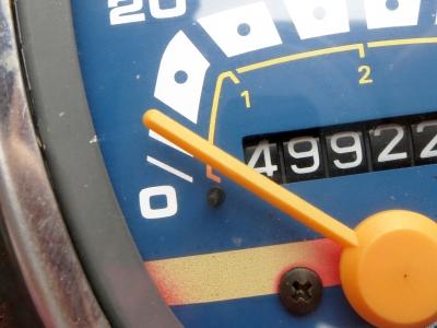 180727-219=Cubスピードメーターケーブル交換,スピードメーター動作テスト a庵玄関前