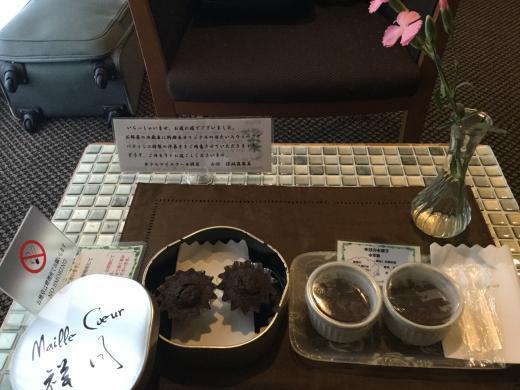 180921箱根マイユクール祥月部屋菓子
