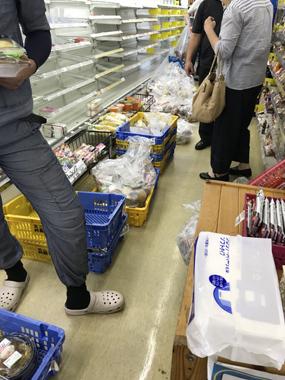 台風24号 停電 廃棄処分 豊川 御津 花屋 花夢