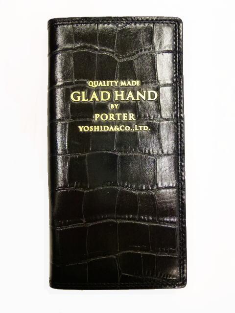 GLAD HAND×PORTER GH-PARCEL CROCOLIKE BLK