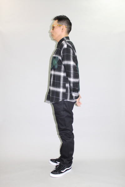 INTERFACE 2TONE CHECK SH DENIM PT Type-S