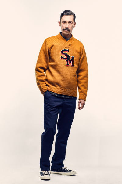 SOFTMACHINE SM LETTER SWEATER DAILY FLANNEL LAVEY PANTS