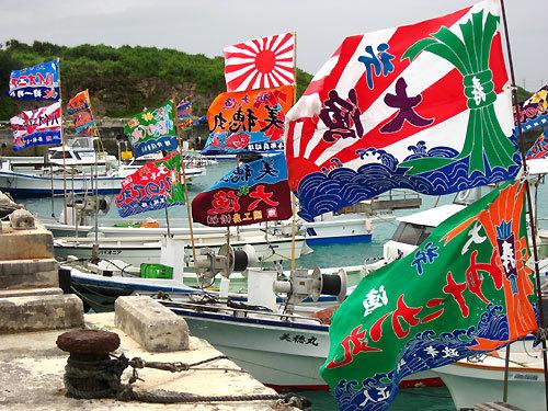 旭日旗の大漁旗