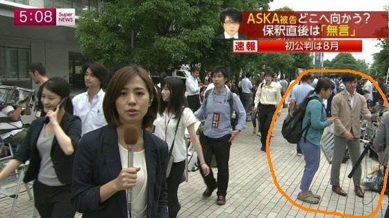 平成26年7月5日、TBSの番組『情報7days』に今度は「ASKAのファン」として登場する前にスタンバイしているところが他局のカメラに映り込む 。