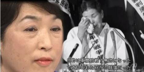 朝日新聞の植村隆は吉田清治のストーリーにそって「女子挺身隊として連行された」と明らかに事実と異なる記事を書いたが、福島瑞穂らは訴状に「養父に連れられ北京に到着後、日本軍に呼び止められトラックに乗せられ