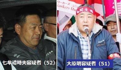 関西生コン支部幹部、七牟禮時夫容疑者(52)ら16人逮捕 運送業者の出荷妨害、組合加入強要疑い-大阪府警