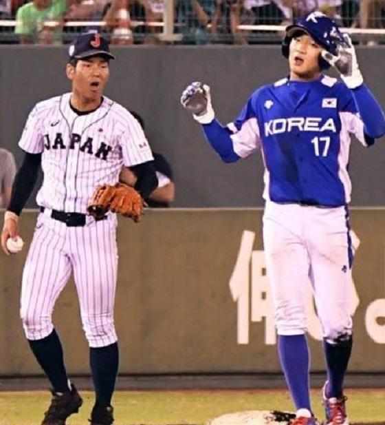 【U18アジア選手権】中川が韓国選手のグラブ踏みつけラフプレーに激怒