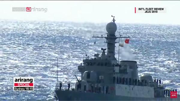 ベトナム:国旗と海軍旗と太極旗