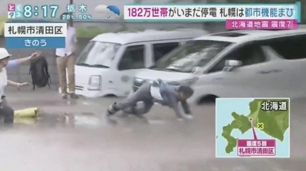 とくダネ! 液状化の現場に近づき、足が埋まってしまったHTBの土屋まり氏の救出に6時間以上…報道した「とくダネ!」「ミヤネ屋」も女性を被災者と映し非難殺到…