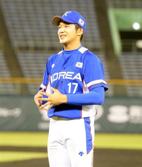 韓国代表のキム・デハン選手(撮影・水島啓輔)