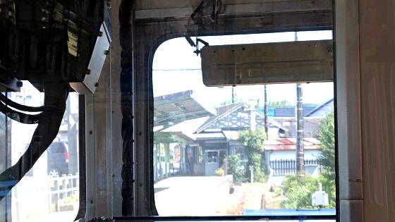 名鉄_名鉄広見線_御嵩駅に到着2018