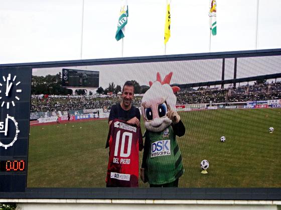 FC岐阜_デル・ピエロ氏とギッフィー2018_04
