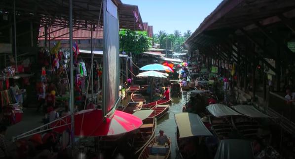 水上マーケット2018年8月21日東南アジア