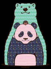 クマとパンダとハリネズミ
