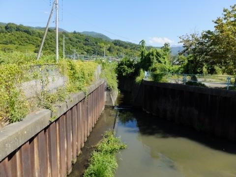 大同排水機場に流入する小河川